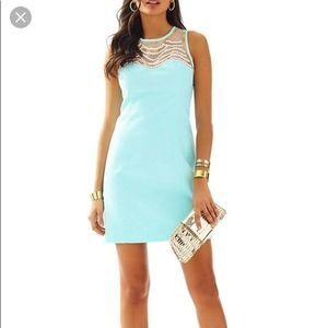 Lilly Pulitzer Tia Pool Blue Shift Dress